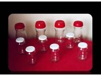 SELECTION OF EMPTY GLASS JARS - (10) - FOR SALE