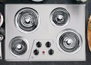 Plaque de cuisson 30'', Éléments serpentins, Acier inoxydable