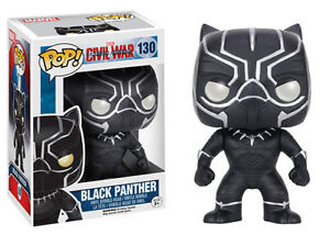 FUNKO POP FIGURE - MARVEL CIVIL WAR - 'BLACK PANTHER' - NEW!