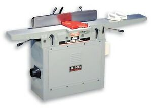 """8"""" King Industrial Jointer with spiral cutter head. KC-85FX"""
