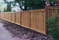 Privacy Fence with 6x6 Post,Board on Board,Micro Sienna