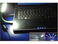 Flexible LED USB Laptop Keyboard Light. Many Colours Available.