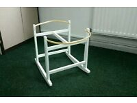 White Rocking moses basket stand. All brand new in sealed boxes. 3 left in stock.