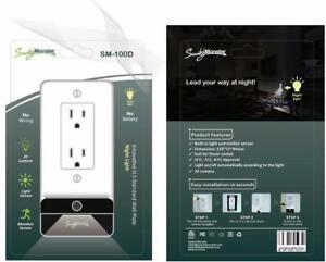 Smart Wall charger Led Night Lamp /USB 3.1 amp DIY - No electrician require for install