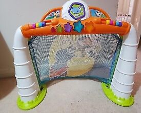 Chicco toy goal with sounds, lights and soft ball