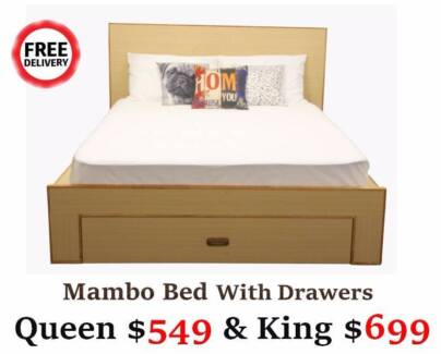 New Timber Bed Frame/Mattress for Sale from $249 | Free Delivery