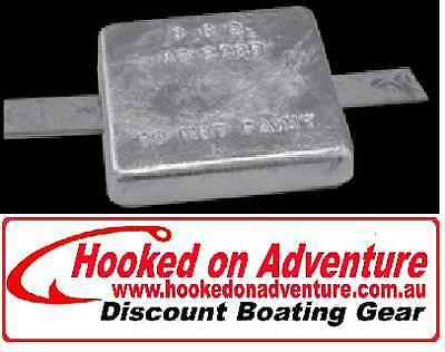 2 x ZINC BLOCK ANODES WITH STEEL STRAP 4.3 kg (we stock the full range)