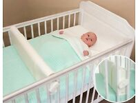 White Safababy Sleeper Feet to Foot Position Cot Divider - ONLY £5