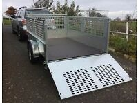 MESHSIDE GALVANISED TRAILER WITH RAMP