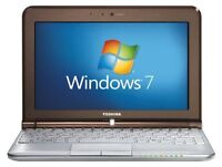 WINDOW 7 LAPTOP FOR ONLY $ 99.99, TODAY,S SPECIAL ONLY. TOSHIBA