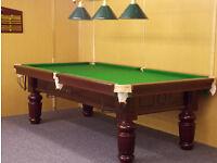 Snooker Table Turned Leg (8x4 Slate Bed) ** NEW **