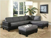 SOFA SECTIONNEL GRIS/NOIR, MANUFACTURIER DIRECT