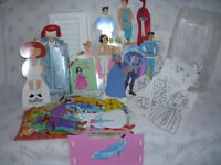 Paper Dolls with Tote : Barbie:SnowWhite:Godmother:Prince:Madeli