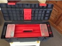 """ZAG Extra Large tool box 26"""" with a very Deep inside space perfect for holding Power Tools."""