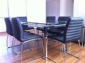 Glass & chrome  dinning table Ramsgate Beach Rockdale Area Preview