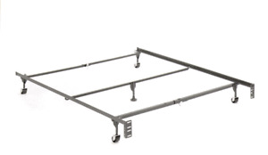 Double/Queen/King Metal Bed Frame On Wheels