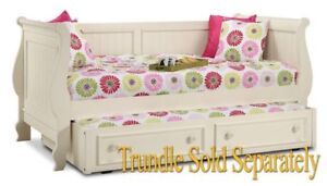 Day bed, cream, twin bed, trundle NOT included