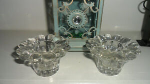 CANDLE HOLDER GLASS - BRAND NEW   $2.00 EACH
