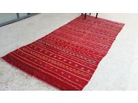 Antique Moroccan Kilim wool rug woven by hand