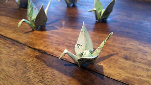 New Hand folded Origami Paper Cranes London Ontario image 5
