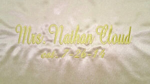 Personalized label for your wedding dress