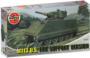 Airfix 02327 M113 Fire Support Vehicle 1/76 Scale Plastic Model Kit