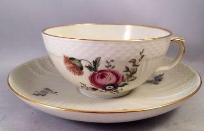 Royal Copenhagen Frijsenborg 910 Flat Cup Teacup & Saucer #1551 - Hard to Find!