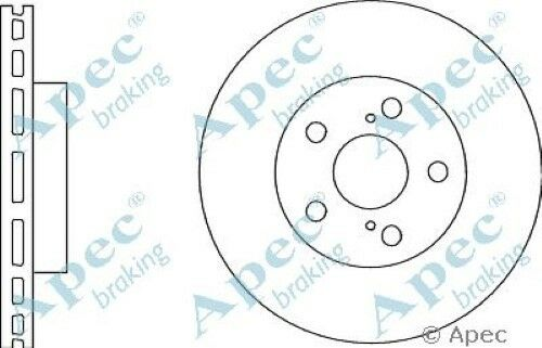 1x OE Quality Replacement Front Axle Apec Vented Brake Disc 5 Stud 255mm - Pair