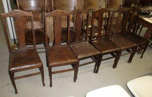 Antique Oak Chairs Ebay