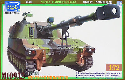 RIICH MODELS® 72002 M109A2 155mm Self-Propelled Howitzer in 1:72