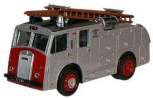76F8001 Oxford Diecast London Fire Brigade Dennis F8 Silver Truck 1:76 Scale