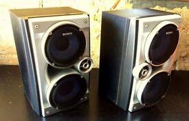 SONY SS-RG475 3-Way Bass Reflex Bookshelf Speakers (75W 6 Ohm)