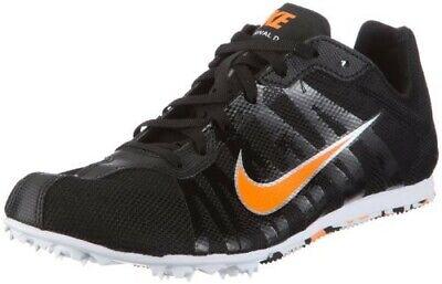 best service d1ff7 86e43 Nike Mens Zoom Rival D Track  Field Shoes Sz 9.5 BlackOrange Swoosh