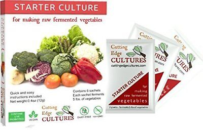 Cutting Edge Cultures Vegetable Starter Culture, 6 Pouches, 12g by Cutting Edge