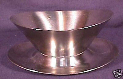 Danish Modern Stainless Steel Mayonaise Serving Boat