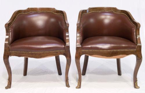 - Antique Leather Armchair EBay