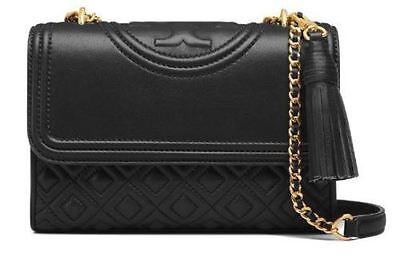 TORY BURCH 31382 BLACK  Fleming Small Convertible Shoulder Bag