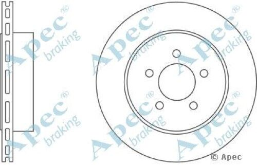 1x OE Quality Replacement Rear Axle Apec Vented Brake Disc 5 Stud 320mm - Single