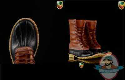 1/6 ACI Toys Fashion Boots Series 4 Outdoor Hunting Boots Dark Brown