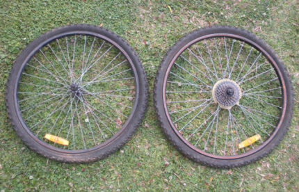 Bicycle Wheels $12 pair Albion Brisbane North East Preview