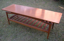 50's long wooden coffee table $90 Albion Brisbane North East Preview