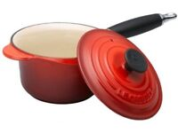 wanted a set of le creuset saucepans must be in excellent condition