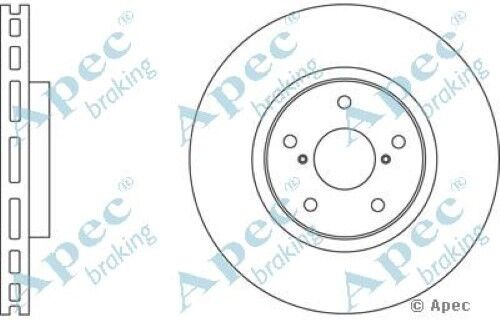 1x OE Quality Replacement Front Axle Apec Vented Brake Disc 5 Stud 315mm Single