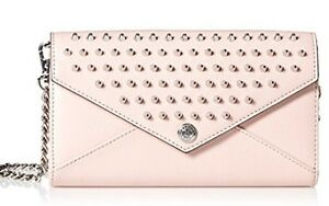 Rebecca Minkoff Wallet on Chain Pale Pink