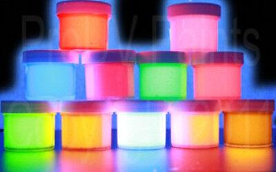 UV  NEON RAVE ACRYLIC AIRBRUSH  STENCIL GRAFFITI PAINTS, PARTY, BLACK LIGHT. - Black Light Paint Party