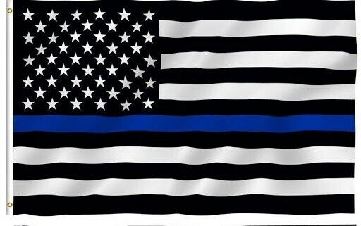 Blue Lives Matter USA Thin Blue Line Police Law Enforcement 3x5 Feet Flag
