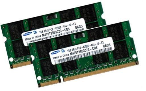2x 1GB 2GB DDR2 SAMSUNG Notebook RAM Speicher 400 Mhz SO-DIMM PC2-3200S 200 pin