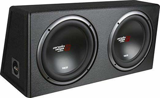 "Cerwin-Vega XED Series Dual 10"" Car Subwoofer Factory-Tuned Vented Enclosure"