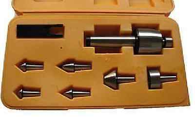 8pc Morse Taper Mt2 Precision Multi Shape Live Center Set