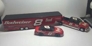 1999 Dale Earnhardt Jr Budweiser 1:24 Crew Cab, Trailer & Car